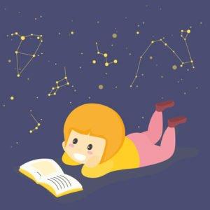 telescope enfant fille astronomie