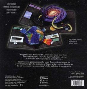 L'univers animé de l'espace une fois le livre ouvert